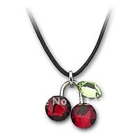 Austrian Crystal Fruity Cherry Mini Pendant with Rhodium-plated 891634