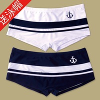 2012 consmile male swimming trunks men's boxer swimming trunk fashion anchor swimming pants