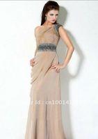Free Shipping One Shoulder Chiffon Long Fashion Formal Dresses For Ladies 2012