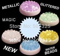 10KG/LOT, MAGIC GLITTERED Water Beads Crystals Soil Bio Gel Ball Beads WEDDING VASE CENTERPIECE Home Decor, Factory Price