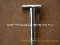 Free Shipping  Eropean Standand Brass Toilet Shattaf Bidet Spray Handheld Shower head TS14B-1  Mirror Chrome