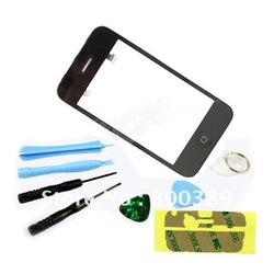 New LCD Touch Screen Glass Digitizer Assembly with Mid Frame for iPhone 3GS Black Free Shipping(China (Mainland))