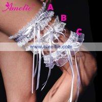DHL or EMS Free Shipping Mix Styles White Wedding Bridal Garter,60pcs/lot