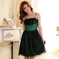 Princess double layer gauze spaghetti strap evening formal dress one-piece dress  plus size