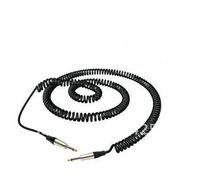 "5M / 16Ft black Curly Guitar Cable 6.35mm ( 1/4 "" ) jack plug bass effect   RCL30205 D6 c"