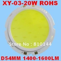 100pcs/lot DHL FREE 20W LED Module , COB technology, Taiwan High Power Chip ,Round D54mm Light source,XY-03-20W.
