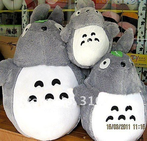 Christmas gift 100cm big size Chinchilla hayao miyazaki cartoon plush toy galesaur plush toy freeshipping(China (Mainland))