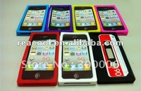 10pcs/lot free shipping New Retro Cassette Tape Silicon Case Cover for iPhone 5 5G