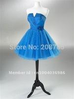 Hot sale Sweetheart  Ball Gown  Celebrity Dresses  Knee length Fold  Flower waist  Organza
