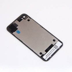 for iPhone 4S Compatible Glass Rear Back Battery Cover Case Housing Replacement BLACK(China (Mainland))