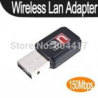Wholesale! 150M 150Mbps Mini USB WiFi Wireless Lan Network Card Adapter Laptop 802.11n/g/b, free Shipping