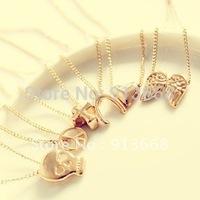 Fashion Necklace Metal Gold Mark Pendant Chain Mischa Barton Sweater Chain  XL105