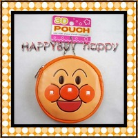 PU Anpanman 50pcs pu Cartoon Head 3D Pouch Coin bag Soft Plush Bag Toy Hotsale Gift