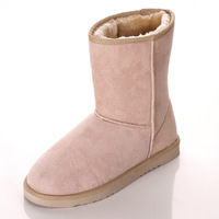 free shipping Anti-slip soles thick wool knee-high thermal female snow boots