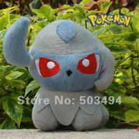 "Free shipping Anime Pokemon Character 5"" Absol Plush Toy Stuffed Doll Soft Figure"