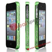 Luxury Classic Macrame UV Electroplating Bumper Case for iPhone 4/Bumper Case for iPhone 4S