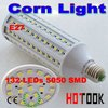 Dropship 5050 SMD 5050SMD 20W LED E27 Corn Light Lamp Bulb 220V ( 110V ) with 132 leds CE ROHS Approve -- free shipping