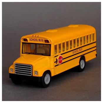 Big discount Toy school bus schoolbus side WARRIOR alloy car model Promotional Sales Gaga Sales
