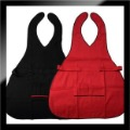 black red salon silky satin V neck apron hair cutting clothes 5pcs/lot