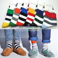 Socks wide stripe multicolour cotton socks  male socks