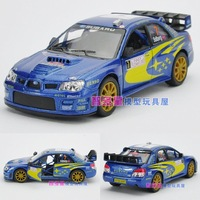 1:32Soft world SUBARU automobile race WARRIOR alloy car model toy