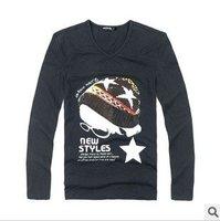 "Футболка 44ST Men`s fashion t-shirt, Num "" 9"", Black/Grey 2 color, all match t shirt, good quality, high grade, - Life&Fun"