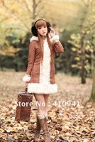 Женский костюм с юбкой 2012 qiu dong new lady fashion temperament flower cloth edge a-line skirt, hubble-bubble sleeve coat, suit