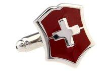 The cross  cufflink  enamel shield design  cuff links for men  jewelry  A0524 cuff links