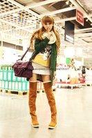 [CPA Free Shipping] Women's Suede Flat Boots Thigh High Boots, Knee-High Boots Knee High Boots Black/Gray/Brown/Yellow-SH-004