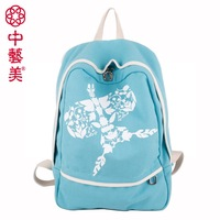 Zhong yi han kite canvas backpack casual backpack student school bag