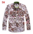 Male shirt print long-sleeve shirt male commercial male 100% cotton easy care shirt men's clothing free shipping