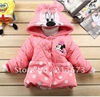 Wholesale100% cotton Girls Minnie design thick coat(4PCS/lot) Children's coat Children's clothing XP0717