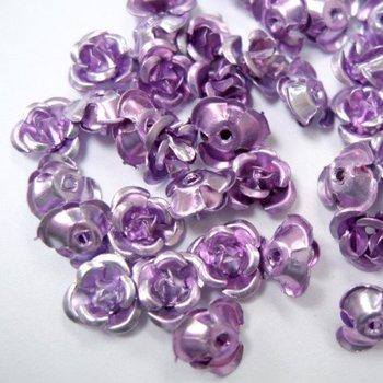 150 шт алюминия розы бисер 6 мм светло-фиолетовый (0890) .