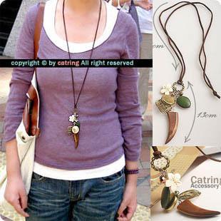 New arrival!! Stylish accessories rustic mix match necklace Multi-element women jewelry 24pcs/lot free shipping(China (Mainland))
