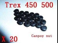 20X Glass fiber Canopy grommet nuts For TREX 450 SE V2 Sport Pro Trex 500 CF BK