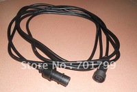 2 core 3m long waterproof extention cable male and female;black color: the male connect's diameter:15mm