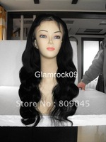 "EMS freeshipping(1#,1b#)(8"" - 24"")inch1 #18inch bodywave Remy 120%density indian human hair  full lace wig  glueless Wig bw052-5"