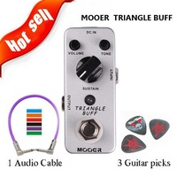 Mooer Effect Pedal Triangle Buff/Fuzz Guitar Pedal True/ Buy one guitar pedal send three picks free shipping wholesale