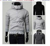 High collar stylish collar design hooded sweater hood head sets Sports jacket casual hoodie hooded ,JK154