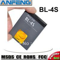 replacement 1000mAh battery BL-4S for nokia mobile phone 6202c/7020/7100s/7610c/7610s AKKU baterai free shipping 10pcs/Lot
