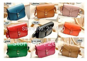 9 colors fashion woman PU Square Handbag Satchel Messager Shoulder Purse Bag