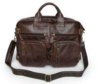 Chocolate Vintage Leather Men's Briefcase Backpack Messenger Laptop Bag,M43