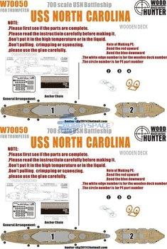Hunter W70050 1/700 WWII USS North Carolina Battleship for Trumpeter (05734)