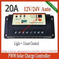 20A LS2024R PWM Solar Lighting Controller,12V/24V Auto Work,solar charge lighting controller with timer and light sensor
