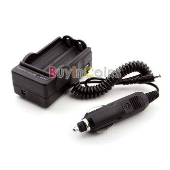 1Pcs/lot 18650 100-240V Battery Wall Charger + Car Adapter  #1066