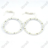 1pair Car Angel Eyes light Headlight 24 SMD 3528 1210 1.8W LED Ring 80mm White-1011290425