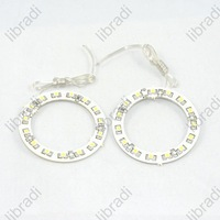 1pair Car Angel Eyes light Headlight 15 SMD 3528 1210 1W LED Ring 60mm White -1011294948