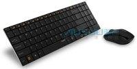 Free Shipping!!Brand RAPOO Metel 2.4G 10m Slim Optical Wireless Mouse & Keyboard Long battery