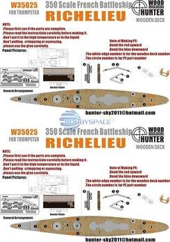 Hunter W35025 1/350 WWII French Navy Richelieu Battleship for Trumpeter   05311