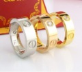 "Holiday Sale 2013 Fashion ""LOVE"" Style Screw Ring, Rose golden/Yellow golden/Sliver.free shipping"